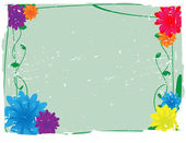 Flowery Grunge Vector Background — Stock Vector