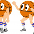 Royalty-Free Stock Vector Image: Mr. Basketball man in two poses a sporty