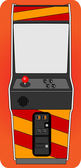 Classic arcade cabinet — Stock vektor