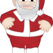 Chubby Santa Claus stands alone - Stock Vector