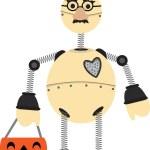 Robot Wearing Groucho Glasses Halloween — Stock Vector