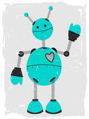 Adorable Robot Waving — Stock Vector