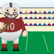 American football Player standing in fie — Imagen vectorial