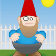 Royalty-Free Stock Vector Image: Garden Gnome - Vector