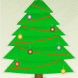 Christmas Tree with light decorations — Imagen vectorial