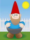 Bahçe gnome - vektör — Stok Vektör