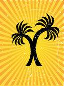 Twin plam tree vector background — Stock Vector