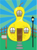 Pear Shaped House — Stock Vector