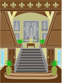 Grand Staircase upscale setting — Stock Vector
