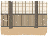道場トレーニング ルーム — ストックベクタ