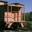Stock Photo: Orange Caboose