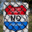 Stock Photo: US Government No Trespassing Sign