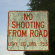 Royalty-Free Stock Photo: No Shooting From Road