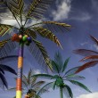 Plastic Palm Trees against Blue Sky — Stock Photo #2498869