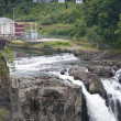 Stock Photo: Snoqualmie Falls Hydroelectric Plant