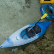 Kayak and Tubes — Stock Photo