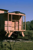 Orange Caboose — Stock Photo