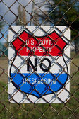 US Government No Trespassing Sign — Stock Photo