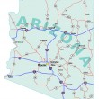 Постер, плакат: Arizona State Interstate Map