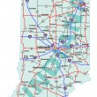 Постер, плакат: Indiana State Interstate Map