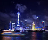 Pearl tower at night — Stock Photo