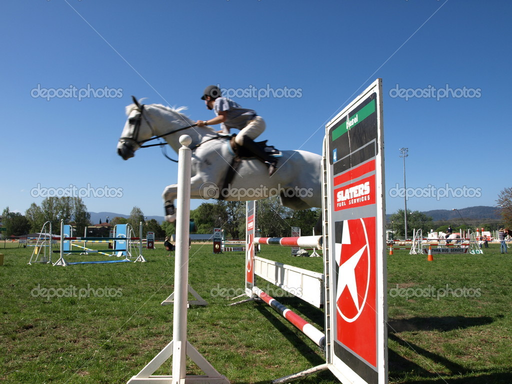 Show jumping horse — Stock Photo #2195065