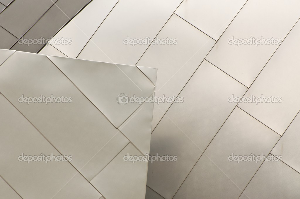 Detail of a Section of Titanium Roof — Stock Photo #2074209