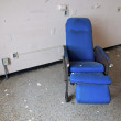Stock Photo: Blue Hospital Chair