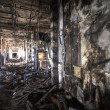 Burned Corridor - Stock Photo