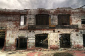 Abandoned Brick Facade — Stock Photo