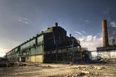 Abandoned Industrial Warehouse — Stock Photo