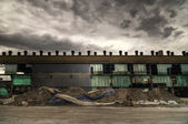 Abandoned Warehouse Facade — Stock Photo