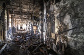 Burned Corridor — Stockfoto