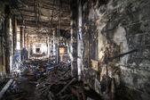 被烧的走廊 — 图库照片