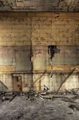 Decayed Block Wall — Stock Photo