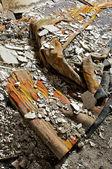 Zerstörten teppich — Stockfoto