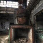 Industrial Coal Stove — Stock Photo