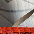 pritzker pavilion seating — Stock Photo