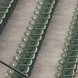 Stock Photo: Green Stadium Seating