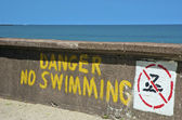 Danger aucun natation — Photo