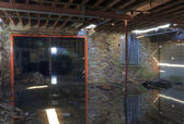Flooded Warehouse — Stockfoto