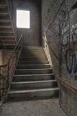 Stairwell with Graffiti — Stock Photo