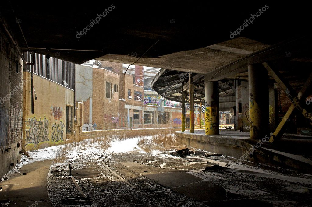 Collection of Abandoned Warehouse Buildings — Stock Photo #2206689
