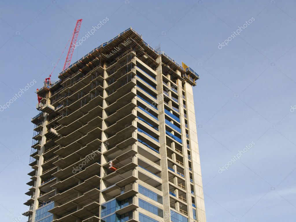 Residential Tower Under Construction in Chicago, Illinois — Stock Photo #2206705