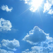 Stock Photo: Cloud and sun on blue sky