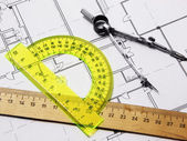 Set for geometric and plan — Stock Photo