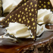 Stock Photo: Chocolaty cake close up