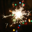 Star of sparkler  bright — Stock Photo
