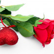 Stock Photo: Rose and heart