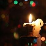 Vánoční Zátiší se svíčkami — Stock fotografie